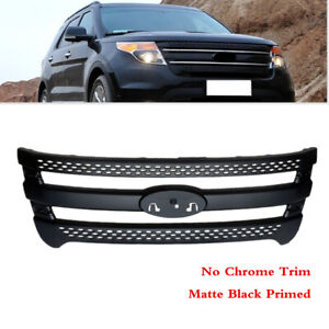 Fit For Ford Explorer 2013 Front Bumper Center Radiator Grille Grill Cover Black