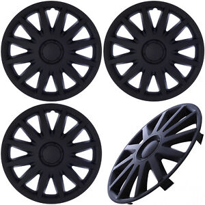 4 Pc Set Of 15 Inch Matte Black Hub Caps Rim Cover For Steel Wheel Covers Cap