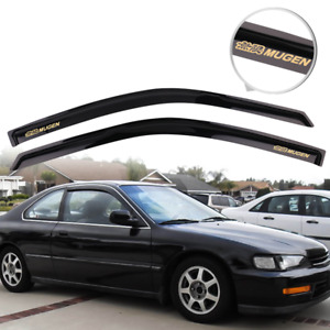 Fits 94 97 Honda Accord Window Visor Guard Deflector Slim Style Smoke Vent 4pcs