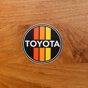 Retro Toyota Overland Sticker Offroad Decal Tacoma 4runner Land Cruiser Fj Round