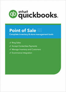 New Quickbooks Pos V19 Multi Store New User License free Contactless Pin Pad