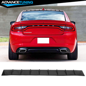 Fits 11 20 Dodge Charger Gloss Black Shark Fin Roof Spoiler Vortex Wing