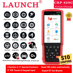 Launch Obd2 Scanner Crp429c Abs Srs Oil Tpms Dpf Epb Diagnostic Reset Tool