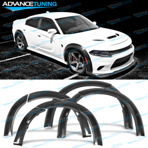Fits 15 20 Dodge Charger Widebody Fender Flares Wheel Protector 10pcs Abs