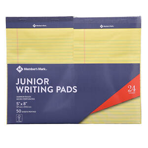 Members Mark Jr Writing Pad Perforated Canary 24 pack