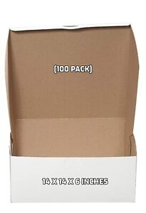 100 Pack White Bakery Pastry Boxes 14 X 14 X 6 Inches
