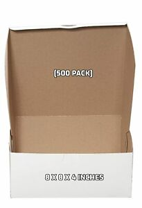 500 Pack White Bakery Pastry Boxes 8 X 8 X 4 Inches For Cakes Pies And Gifts