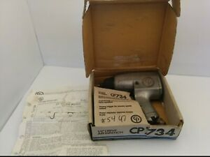 Vtg Chicago Pneumatic Cp734 Air Wrench 1 2 Drive Auto Body Impact Tool W box