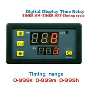 Dc12v 20a Digital Display Time Delay Relay Timing Timer Cycling Module 0 999h