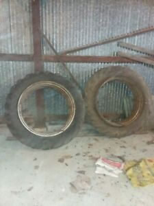 12 X 38 Tractor Duals Tire Rims T Rail Rims No Hubs Needed