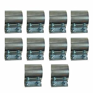 10x 2 25 2 1 4 Stainless Steel Butt Joint Exhaust Band Clamps Sleeve Coupler