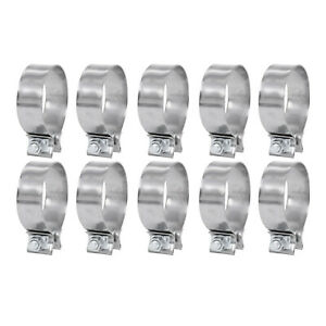 10x 2 Stainless Steel T409 Lap Joint Exhaust Band Clamp Universal New