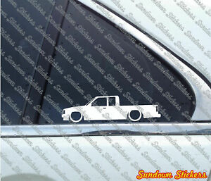 2x Lowered Car Outline Stickers For Mazda B2000 B series Uf 1985 1998 Pickup
