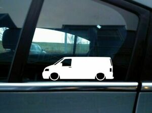 X2 Lowered Car Silhouette Stickers For Volkswagen Vw T5 Transporter Panel Van