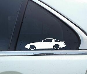 2x Lowered Car Stickers For Mazda Rx7 Fb Sa 1st Gen 13b Gsl 12a Classic