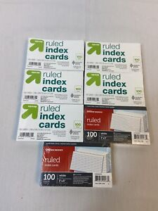 Lot Of 700 7 Packs Of 100 White Ruled Index Cards 3x5 New