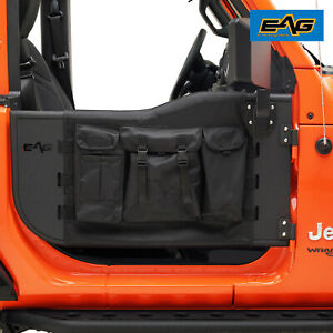 Eag Pocket Replacement Tube Door With Mirror Fit For 18 20 Jeep Wrangler Jl 2dr