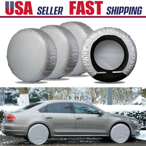 25 27 Auto Tire Cover Rv Trailer Camper Truck Waterproof Dust Wheel Protection