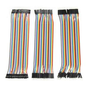 120pcs 20cm 2 54mm 1pin Jumper Wire Dupont Cable For Arduino s1