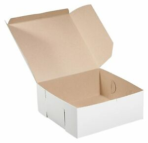 100 Pack White Bakery Pastry Boxes 6 X 6 X 4 Inches