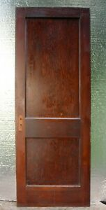 30 X79 Antique Vintage Old Victorian Solid Wood Wooden Interior Door 2 Panels