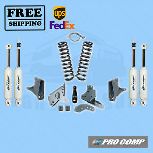 Pro Comp Lift Kit 6 W Es Shocks Rear Blocks 81 89 Ford F 150 4wd Extended Cab
