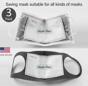 Face Super Fresh Air Mask Filter Replacements Pm2 5 5 Layer Carbon 3 Pack