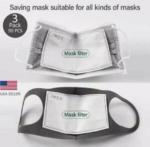 Face Super Fresh Air Mask Filter Replacements Pm2 5 5 Layer Carbon 3 Pack 90 Pcs