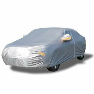 Yibeico Gray Car Cover With Zipper Door Large 178 191 All Weather Universal