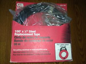 Gardner Bender Rtx 100 100ft X 1 4 Steel Replacement Fish Tape For Ftx 100