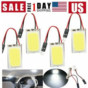 5pcs Set White 48 Smd Cob Led T10 4w 12v Car Interior Panel Light Dome Lamp Bulb