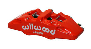 Wilwood Caliper Forged Dynapro 6 5 25in Mount Red L H 1 62 1 38in 1 38in Pistons