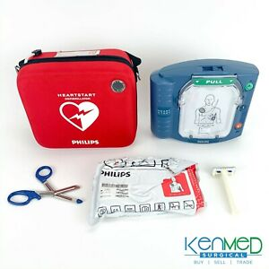 Philips M5066a Heartstart Onsite Aed Defibrillator Hs1 With Case More