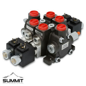 Hydraulic Solenoid Directional Control Valve Double Acting 2 Spool 27 Gpm 12