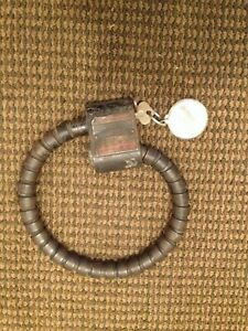 Vintage Original Johnson Spare Tire Lock With Key Auto Car Truck Rat Hot Rod