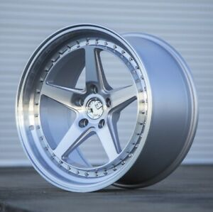 Set 4 Staggered Aodhan Wheels Ds05 18x8 5 9 5 5x114 3 35 30 Silver Machine Face