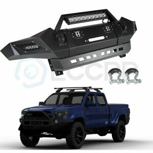 Steel Front Bumper Assembly For 05 08 Toyota Tacoma Face Bar led Lights Guard