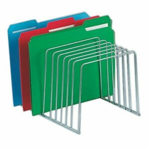 Brenton Studio Chrome Wire File And Binder Organiz