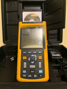 Fluke 123 Industrial Scopemeter Handheld Oscilloscope 20mhz With Case