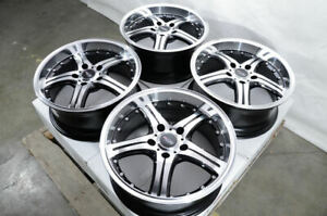 18 Wheels Mercedes E320 E350 E550 S350 Audi A4 Mini Cooper Jetta Black Rims