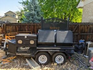 Cadillac Cookers 36 60 Rotisserie Smoker Bbq With Grill On Trailer