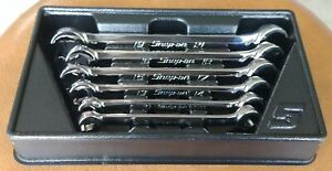 Snap On Tools 6 Pc 6 Pt Metric Double End Flare Nut Wrench Set Rxfms606b Mint