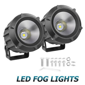 2x Cree Round Led Spot Off Road Driving Pods Work Light Bar Flood 4wd Truck 3 5