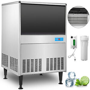 Undercounter Ice Machine Under Counter Ice Maker 150 Lbs 24 H Stainless Steel
