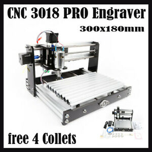 Cnc3018 Pro Pvc Router Kit Engraving Laser Machine Grbl Control 3 Axis Collet Ce