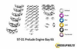 Dress Up Bolts For Prelude 97 01 H22a4 Titanium Ti For Engine Bay Kit Polished