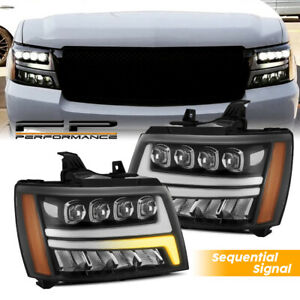 For 07 14 Avalanche Suburban Tahoe Alpharex Nova Sequential Activation Headlight