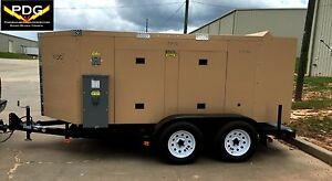 125 Kw Lp Natural Gas Generator Trailer Mount Acoustic Enclosure Auto Controller
