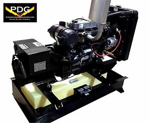 30 Kw Diesel Generator Mitsubishi With 25 Gallon Fuel Tank 3 Phase Stationary