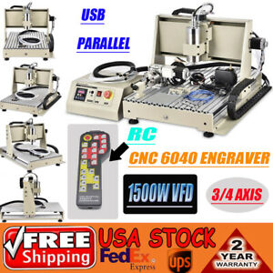 3 4 Axis 1 5kw Cnc Router 6040 Engraver Cutter Mill Drilling Machine Handwheel